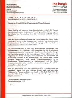 Bericht Enquete im Wiener Rathaus